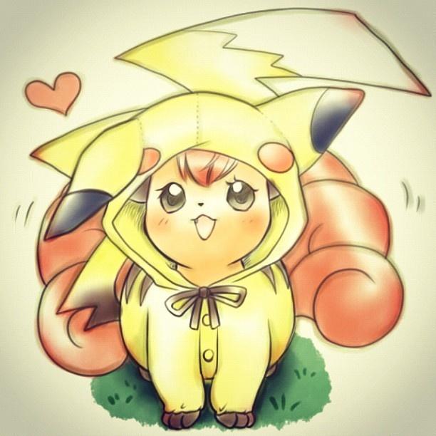 Vulpix! pikachu costume - @pokecute