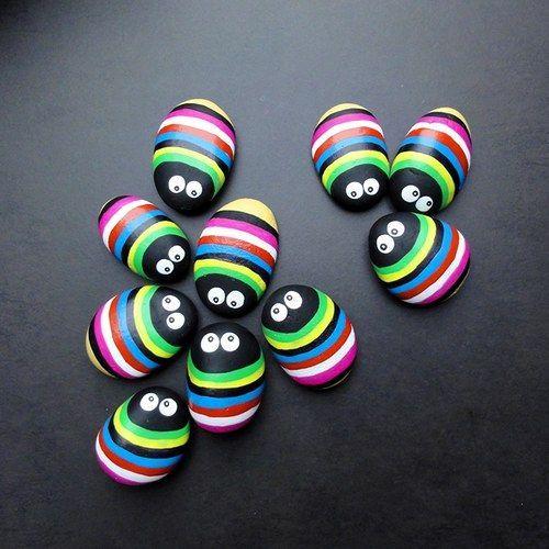 ¡Qué hermosas decoraciones hechas con guijarros! | Mejor pla …