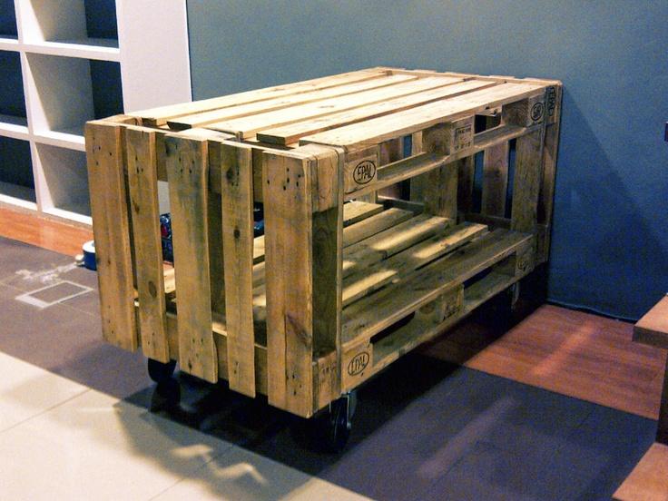 Mostrador para tienda palettecnia palets pinterest - Mostrador de palets ...