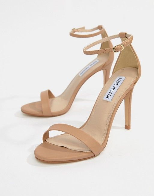 271a9afd837 Steve Madden Stecy Blush Barely There Heeled Sandals in 2019 ...