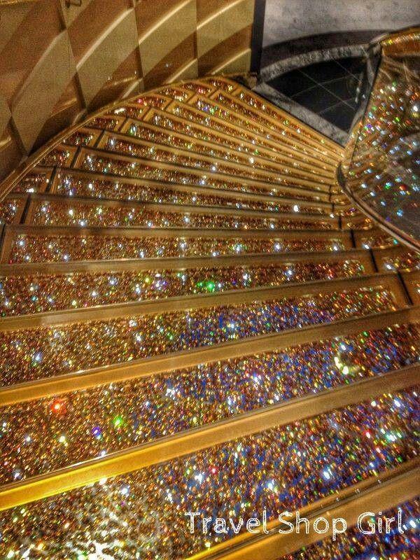 Swarovski crystal stair case