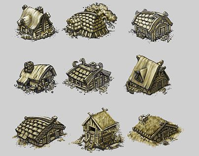 """Check out new work on my @Behance portfolio: """"concept art houses of vikings"""" http://be.net/gallery/51771781/concept-art-houses-of-vikings"""