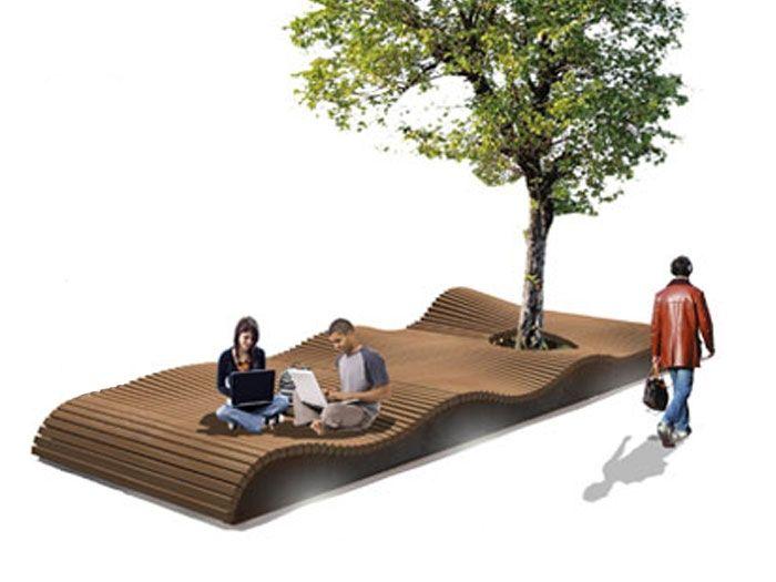 Скамейка «Пляж» | Аданат — современная уличная мебель