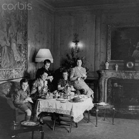 Rose Kennedy Having Tea Party with Children-1938