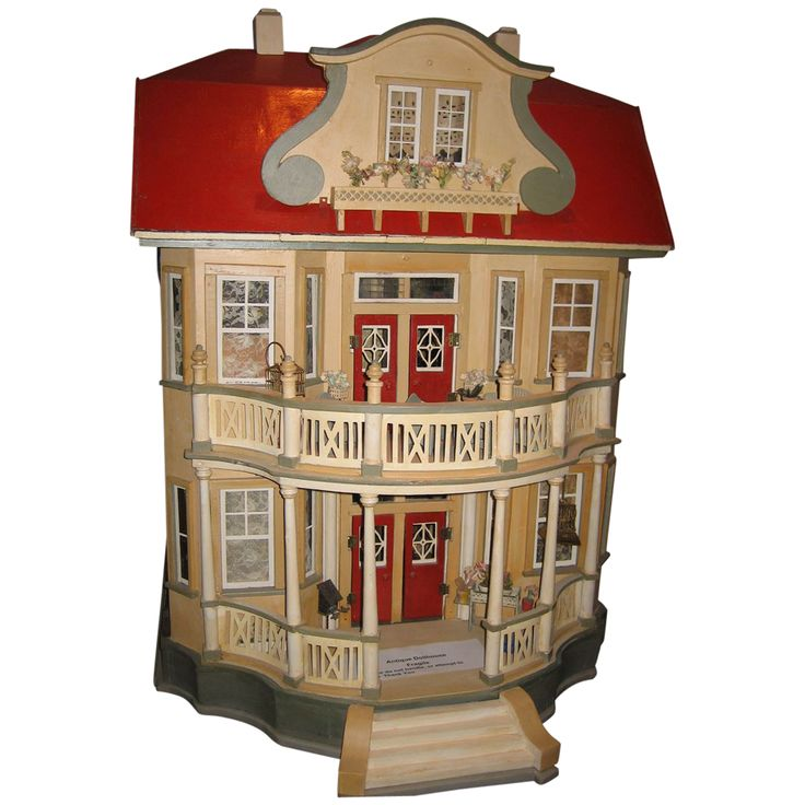 German GOTTSCHALK Red Roof antique DOLLS' House