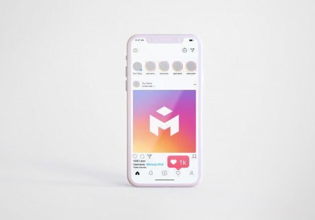 Social Media Instagram On Mobile Phone Mockup Phone Mockup Instagram Mobile Social Media Instagram