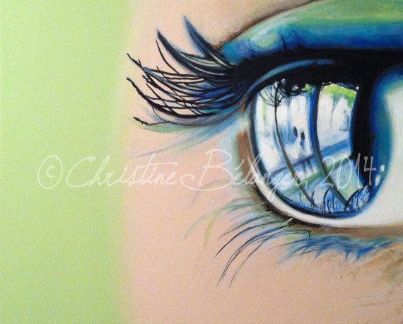 Magnifique toile à l'acrylique intitulée VISION  par ChezCBarts, $175.00
