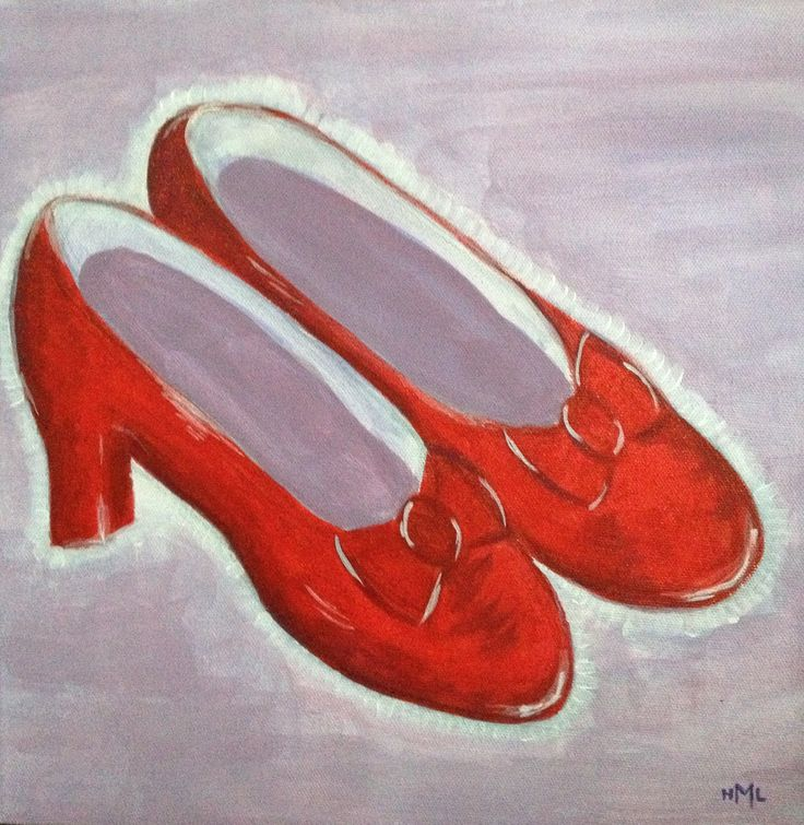 Ruby Shoes - Acrylic on Canvas