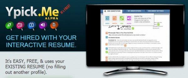 ypick - Para crear CV interactivos