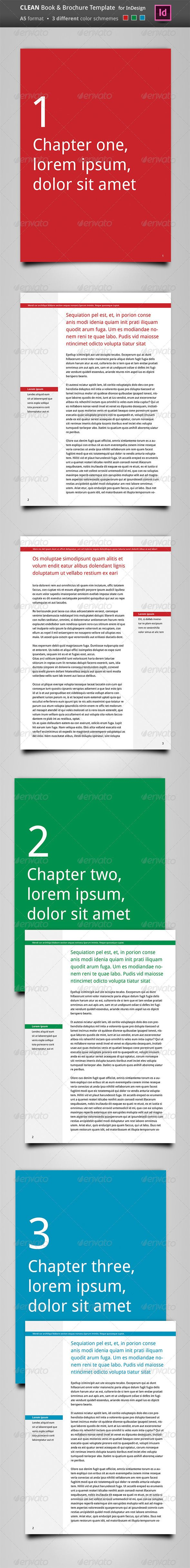 Color book in design - Clean Book Brochure Template