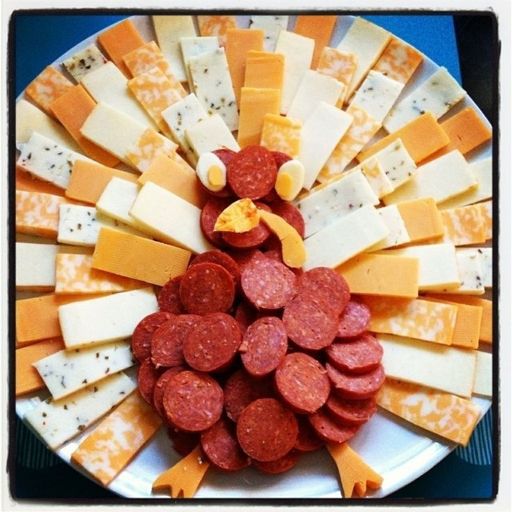 Thanksgiving Ideas - Love this Pepperoni and #Cheese plate!!! #protein ...
