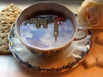 lovely reflection..Having a cup of tea in London....