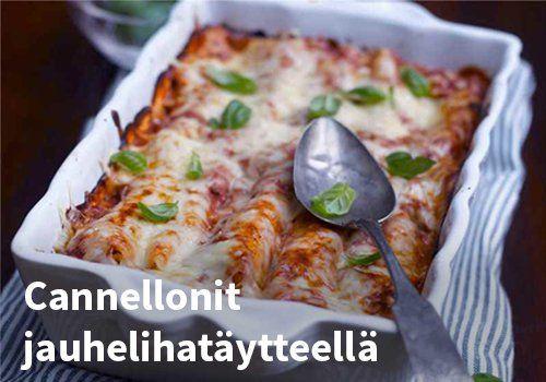 Cannellonit jauhelihatäytteellä Resepti: Valio #kauppahalli24 #ruoka #resepti #cannelloni