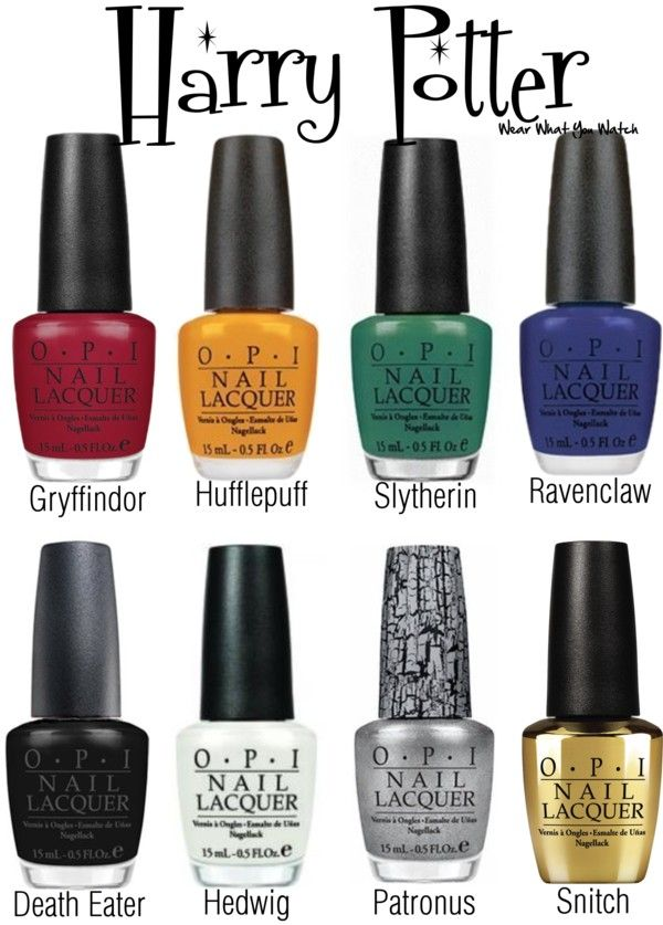 A Nail Polish set inspired by the Harry Potter film franchise. Love.