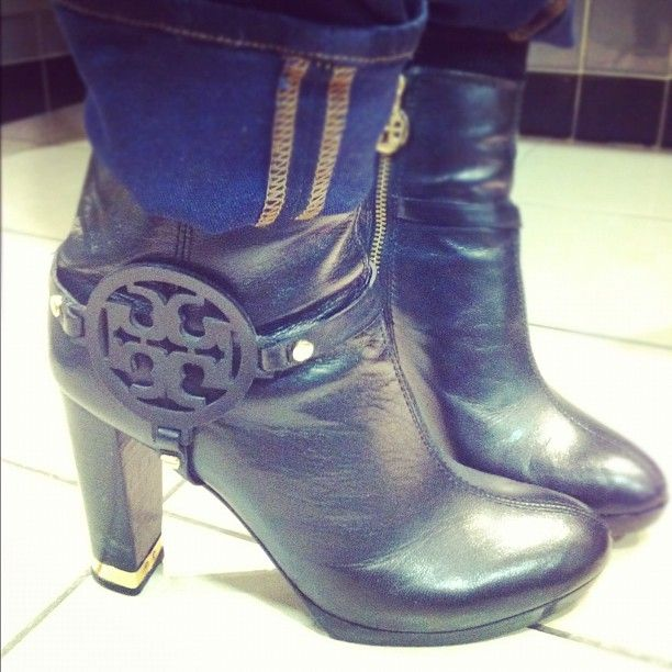 Spotted @edelmanto by #EdelStyle! Earlene from our Corporate team rocking wicked @toryburch ankle boots! #fashion