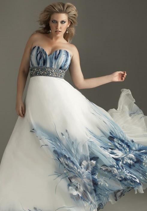 white painted beautiful plus size bridesmaid dresses