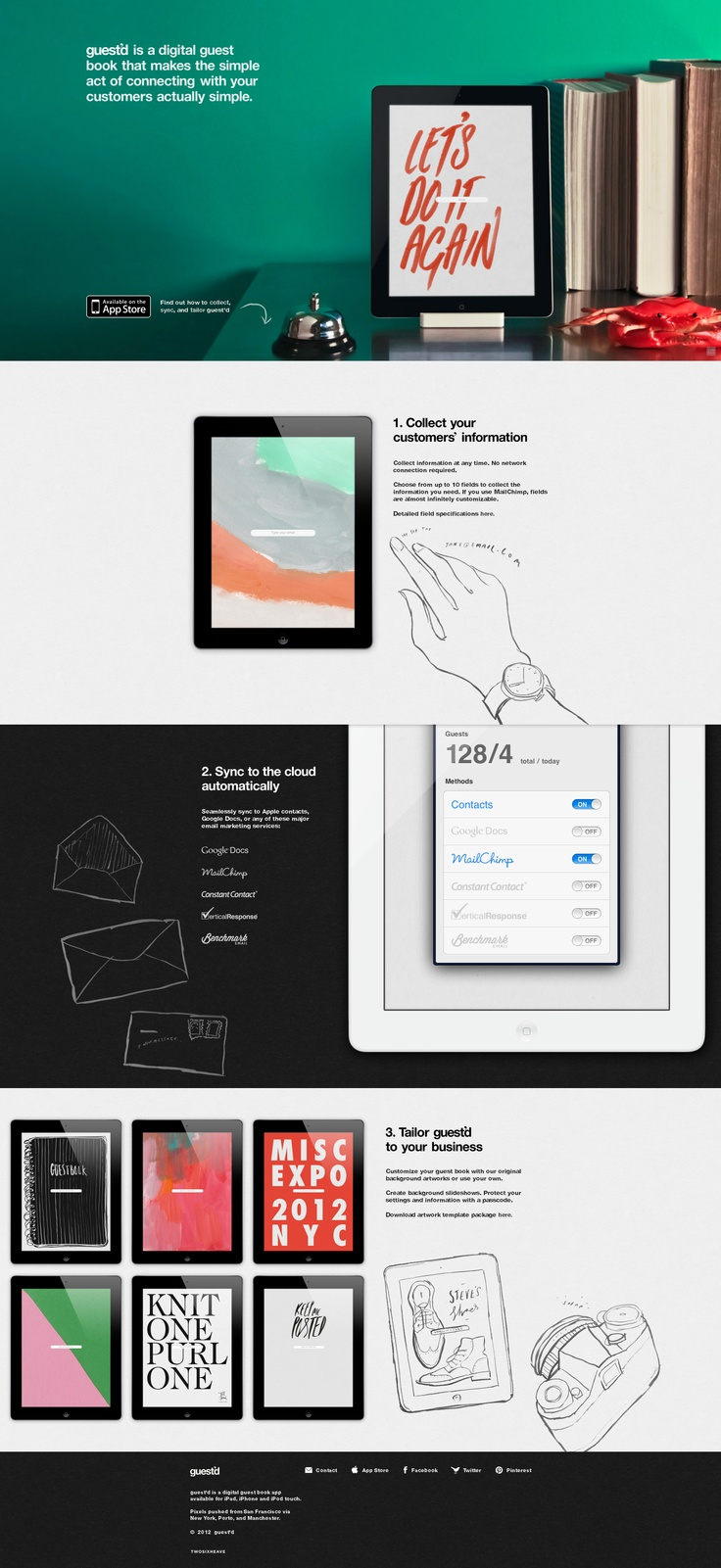 Web design for the Digital Guestbook App