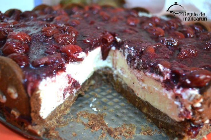 Cheesecake cu blat de biscuiti - fara coacere
