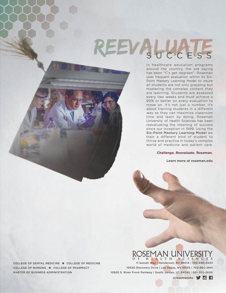 Reevaluate Success Double Exposure Artwork Advertising Ad Campaign Rethink The Future Design Campaign Las Vegas Nevada South Jordan Utah Medical School Roseman University College Students