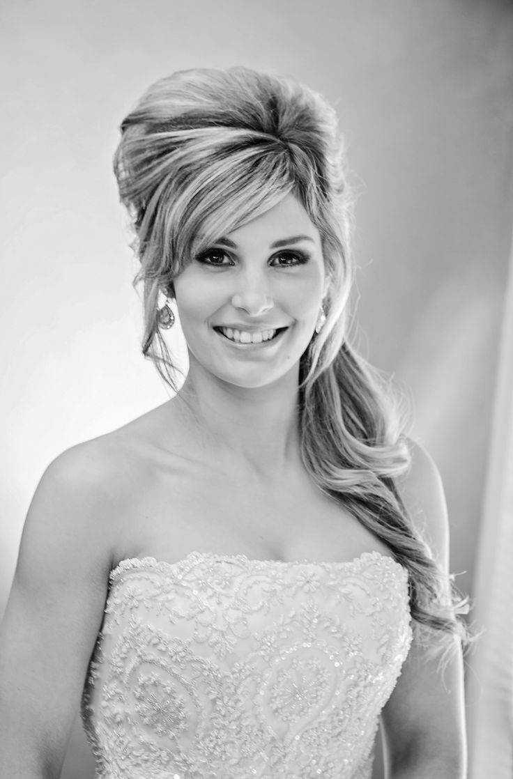 Sexy high hair with side curl by Total Brides hair & makeup