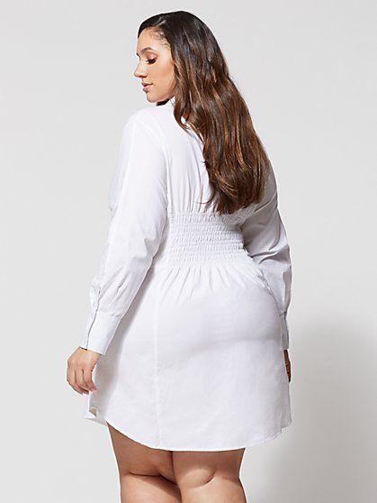 ee810147 FTF Girl Boss Corset Shirt Dress - New York & Company | White Hot ...