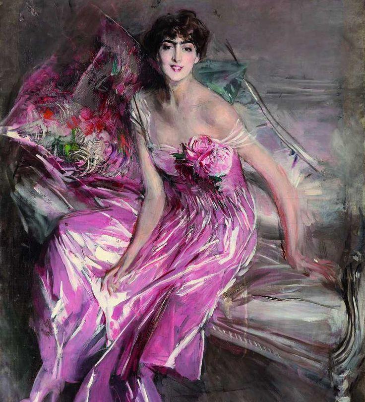 Giovanni Boldini - Signora in rosa (Emilia Concha de Fontecilla), 1916