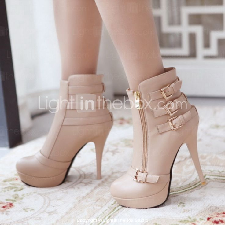 Women's Shoes Fashion Boots Stiletto Heel Ankle Boots More Colors available - USD $ 34.99