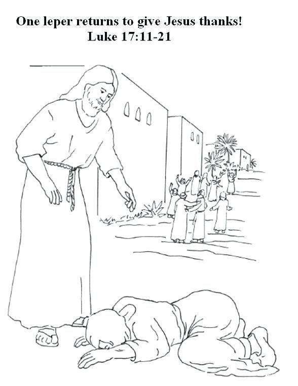 1 Leper Returns Awana Bible Lessons Preschool Coloring