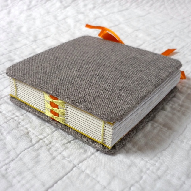 Grey Beermat hand-bound recycled Notebook