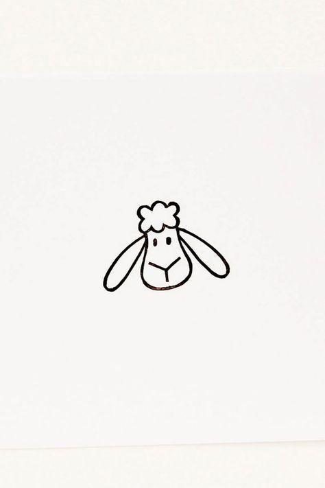 Cute sheep craft rubber stamp - Funny sheep rubber stamp - Farm animal cute stationery- Sweet lamb peekaboo stamp for diy stationery