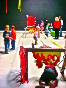 Fireman party obstacle course.. T's 5th or 6th Birthday Party @ the firehouse :)