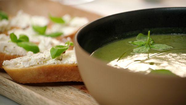 courgette, spinazie en basilicum