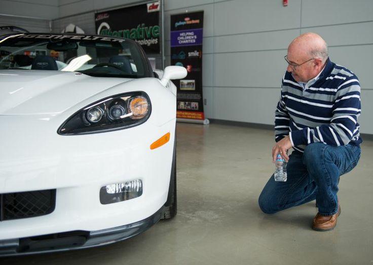 Jim DeGreve checking out his new 2013 60th Anniversary Corvette.