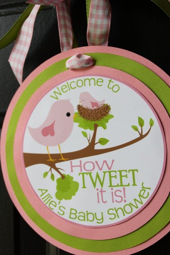 bird theme baby shower