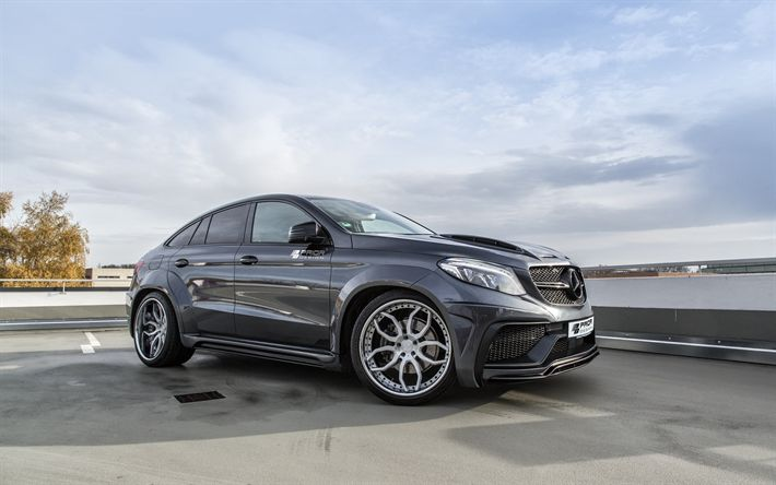 Télécharger fonds d'écran Mercedes-Benz GLECoupe, Avant la Conception, le Paramétrage GLE de la Classe, le noir GLE, voitures allemandes, C292, Mercedes