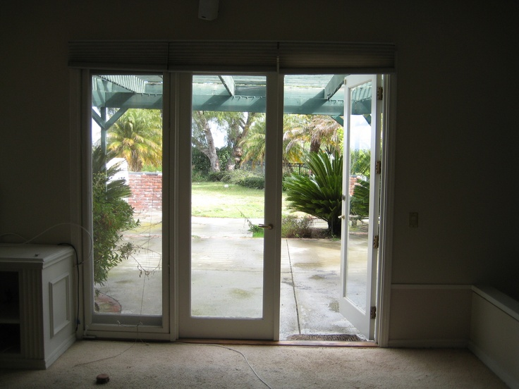french doors to back patio