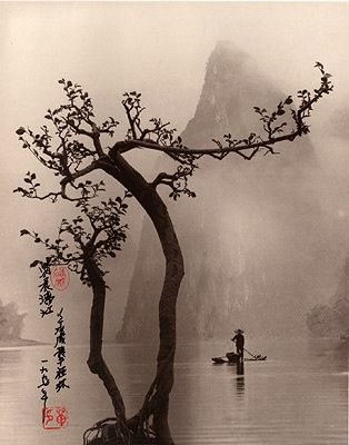 These images may appear to be traditional Chinese prints, including the beautiful calligraphy and stamp work that decorates such classic works… but in fact, they are all photographs. The serenely peaceful craft of Don Hong-Oai, a Chinese born artist who immigrated twice and never left behind the stunning aesthetic of his homeland.