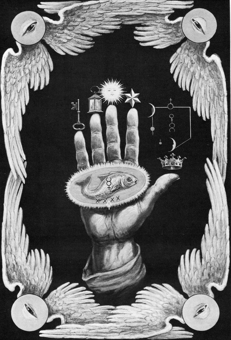 The Hand of the Mysteries, from The Secret Teachings of All Ages by Manly P. Hall, 1923.