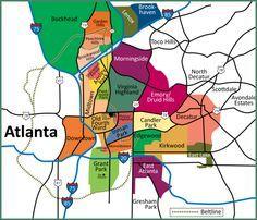 Moving to Atlanta: City or Suburbs?: Map of Atlanta Neighborhoods