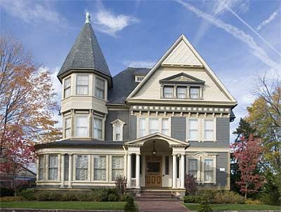 Old Yellow Queen Anne House   thought this local Queen Anne Victorian was perfect. So did neighbor ...