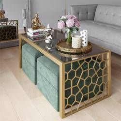 Juliette Glass Top Coffee Table