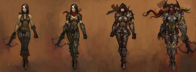 Diablo 3 Demon Hunter Concept Art
