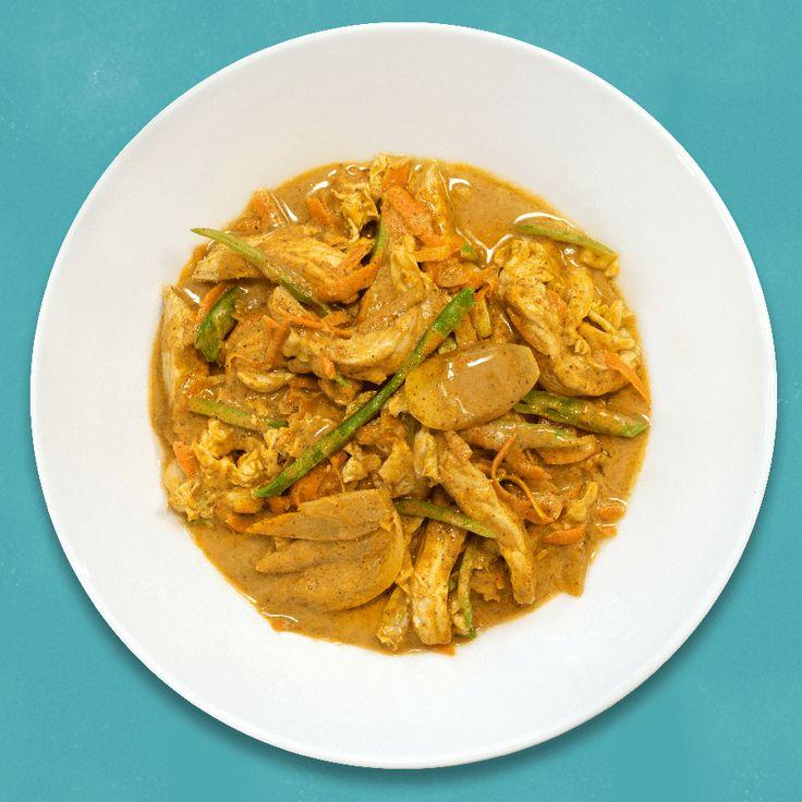 Indisk curry med strimlet svinekjøtt og mye god ingefær! Fra matprat