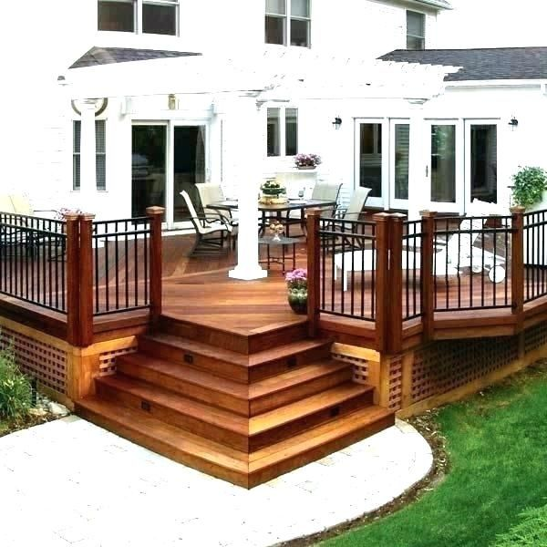 corner deck stairs ideas   Google Search   Building a deck ...