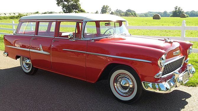 1955 Chevrolet Bel Air Station Wagon 265 CI, Automatic presented as lot T236 at Dallas, TX 2015 - image8