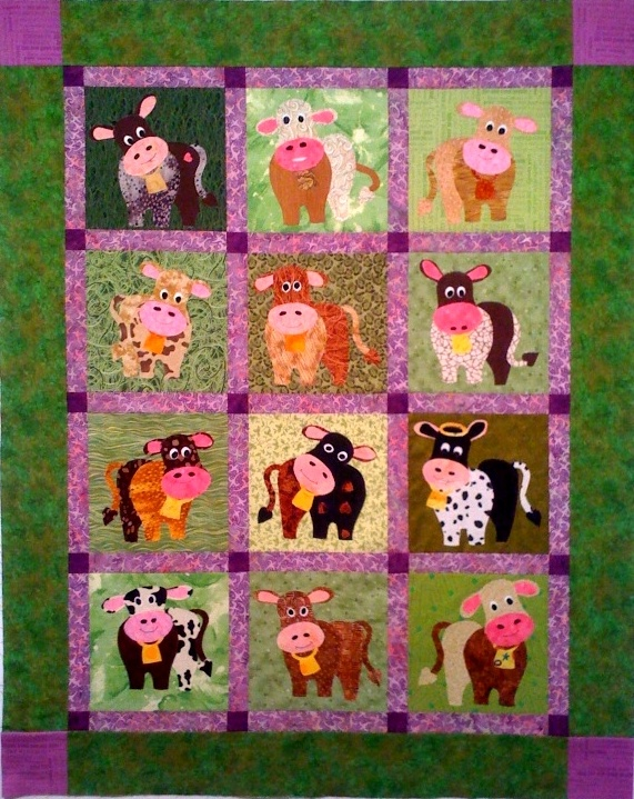 Cow Quilt Pc Cow Parade Cute