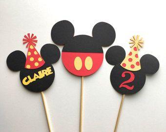 Articles similaires à Rose souris Style guirlande Strand, décorations de fête anniversaire, décorations de fête sur le thème Mickey Mouse sur Etsy
