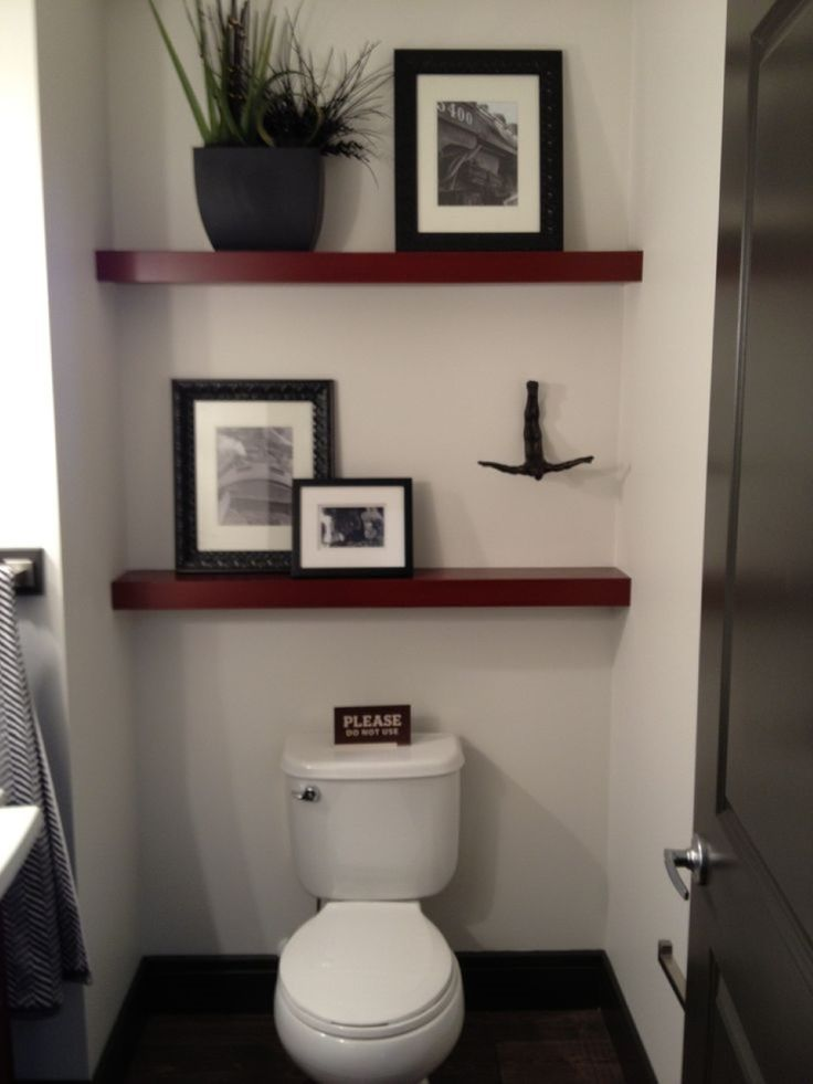 Inspiring Small bathroom Decor with Two Pieces Flush and Mini ...