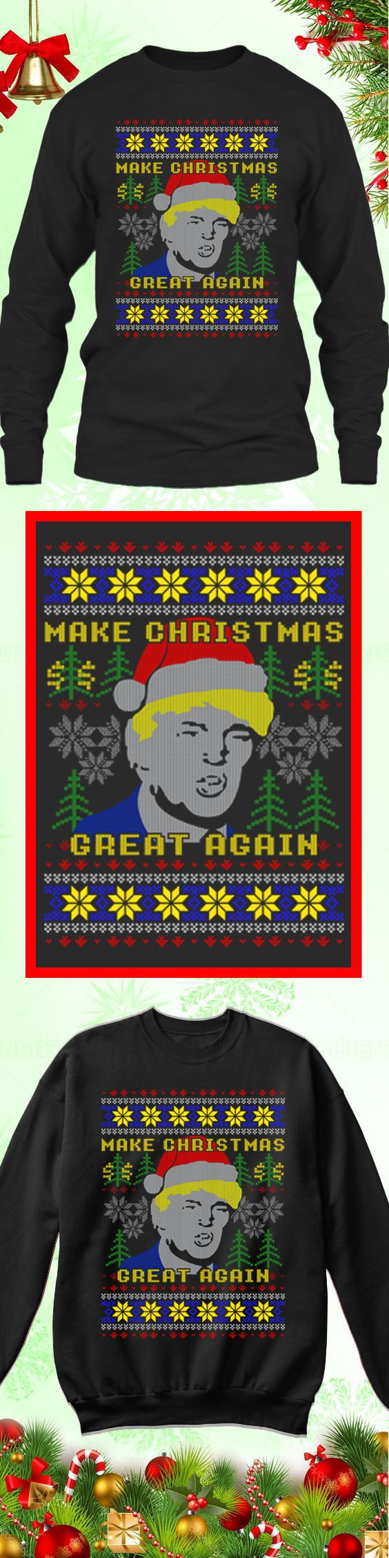 Trump Christmas - Limited edition. Order 2 or more for friends/family & save on shipping! Makes a great gift!