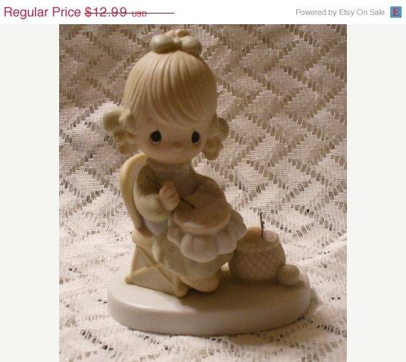 ON SALE Vintage Precious Moments Figurine by ViksVintageJewelry, $11.04